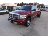 2007 Inferno Red Crystal Pearl Dodge Ram 3500 Laramie Mega Cab 4x4 Dually #73581540