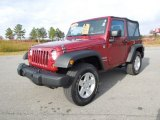 2011 Deep Cherry Red Crystal Pearl Jeep Wrangler Sport 4x4 #73581608