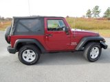 Deep Cherry Red Crystal Pearl Jeep Wrangler in 2011