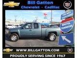 2009 Blue Granite Metallic Chevrolet Silverado 1500 LT Extended Cab 4x4 #73633860