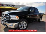 2012 Black Dodge Ram 1500 Lone Star Crew Cab #73633645