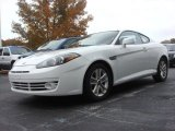 Captiva White Hyundai Tiburon in 2008