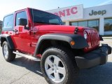 2012 Flame Red Jeep Wrangler Sport S 4x4 #73633517