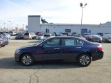 2013 Obsidian Blue Pearl Honda Accord LX Sedan #73633774