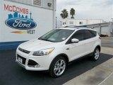 2013 White Platinum Metallic Tri-Coat Ford Escape Titanium 2.0L EcoBoost #73680745