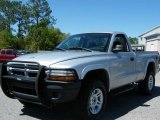 2003 Bright Silver Metallic Dodge Dakota SXT Regular Cab 4x4 #7353990