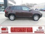 2011 Dark Cherry Kia Sorento LX AWD #73681028