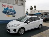 2013 Oxford White Ford Fiesta S Sedan #73680737