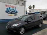 2013 Violet Gray Ford Fiesta S Sedan #73680734