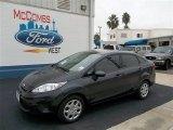 2013 Violet Gray Ford Fiesta S Sedan #73680731