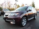 2011 Dark Cherry Pearl Acura MDX Technology #73681005