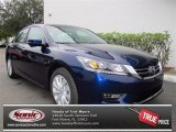 2013 Obsidian Blue Pearl Honda Accord EX Sedan #73680634