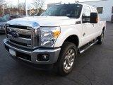 2012 Oxford White Ford F250 Super Duty Lariat Crew Cab 4x4 #73680626