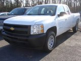 2013 Summit White Chevrolet Silverado 1500 Work Truck Extended Cab 4x4 #73680621