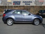 2013 Atlantis Blue Metallic Chevrolet Equinox LS AWD #73713388
