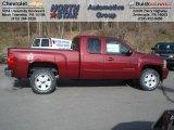 2013 Deep Ruby Metallic Chevrolet Silverado 1500 LT Extended Cab 4x4 #73713384