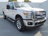 2012 White Platinum Metallic Tri-Coat Ford F250 Super Duty Lariat Crew Cab 4x4 #73713436