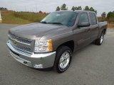 2013 Mocha Steel Metallic Chevrolet Silverado 1500 LT Crew Cab 4x4 #73713595