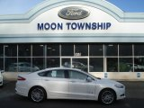 2013 White Platinum Metallic Tri-coat Ford Fusion Hybrid SE #73713404