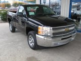 2013 Black Chevrolet Silverado 1500 LS Regular Cab #73751208