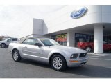2006 Satin Silver Metallic Ford Mustang V6 Deluxe Convertible #73750662