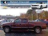 2001 Dark Carmine Red Metallic Chevrolet Silverado 1500 LS Extended Cab 4x4 #73751155