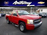 2008 Victory Red Chevrolet Silverado 1500 LS Regular Cab 4x4 #73751151