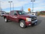 2009 Deep Ruby Red Metallic Chevrolet Silverado 1500 LT Extended Cab 4x4 #73750907
