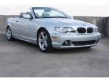 2005 Titanium Silver Metallic BMW 3 Series 325i Convertible #73751137