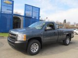 2013 Blue Granite Metallic Chevrolet Silverado 1500 Work Truck Regular Cab 4x4 #73750590