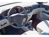 2009 Hyundai Accent GLS 4 Door Gray Interior