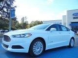 2013 Oxford White Ford Fusion Hybrid SE #73808466