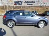 2013 Atlantis Blue Metallic Chevrolet Equinox LS AWD #73808598