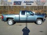 2013 Blue Granite Metallic Chevrolet Silverado 1500 LT Extended Cab 4x4 #73808590