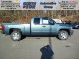 2013 Blue Granite Metallic Chevrolet Silverado 1500 LT Extended Cab 4x4 #73808589