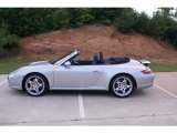 2008 Arctic Silver Metallic Porsche 911 Carrera 4S Cabriolet #73809099