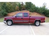 2005 Sport Red Metallic Chevrolet Silverado 1500 LS Extended Cab #73809077