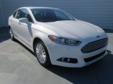 2013 White Platinum Metallic Tri-coat Ford Fusion Hybrid SE #73808683