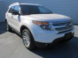 2013 White Platinum Tri-Coat Ford Explorer XLT #73808675