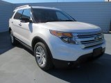 2013 White Platinum Tri-Coat Ford Explorer XLT #73808674