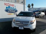 2013 White Platinum Tri-Coat Ford Explorer XLT #73808383