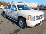 2013 White Diamond Tricoat Chevrolet Silverado 1500 LTZ Crew Cab 4x4 #73808934