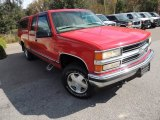 1999 Victory Red Chevrolet Silverado 1500 LS Extended Cab 4x4 #73808742