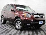 2007 Dark Cherry Pearl Honda Pilot EX-L 4WD #73808875