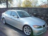 2007 Titanium Silver Metallic BMW 3 Series 335i Sedan #734178