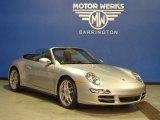 2008 Arctic Silver Metallic Porsche 911 Carrera 4S Cabriolet #73910035