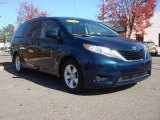 2011 South Pacific Blue Pearl Toyota Sienna LE #73910083