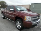 2009 Dark Cherry Red Metallic Chevrolet Silverado 1500 LT Crew Cab 4x4 #73910113