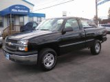 2004 Black Chevrolet Silverado 1500 Regular Cab 4x4 #73935040