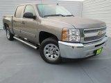 2012 Mocha Steel Metallic Chevrolet Silverado 1500 LS Crew Cab #73934678